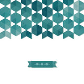 Abstract background banner of hexagon — Stock Vector