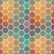 Colored seamless hexagon texture — Stock Vector #42215177