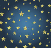 Blue background with gold stars — Vector de stock