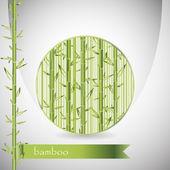 Fond avec du bambou en cercle — Vecteur