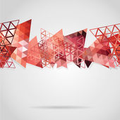 Abstract background with red triangles — Stock Vector