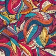 Seamless colorful wave hand-drawn pattern — Stock Vector