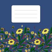 Sunflowers frame — Stock Vector