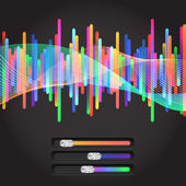 Abstract music equalizer — Stock Vector
