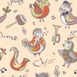 ������, ������: Jazz concept wallpaper Birds sing and dancing