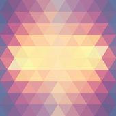 Geometrische patroon. achtergrond met driehoeken — Stockvector