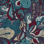 Seamless dark abstract hand-drawn texture — Stock Vector