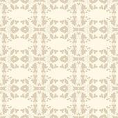Neutral beige plant wallpaper — Stock Vector