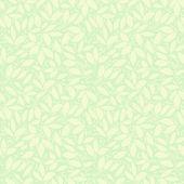 Neutral green beige plant wallpaper — Stock Vector