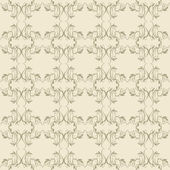 Beige floral wallpaper — Stock Vector