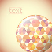 Globe with hexagon signs. Vector illustration. — Stock Vector