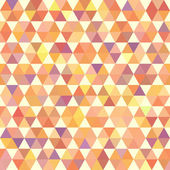 Retro orange pattern of geometric shapes — Stock Vector