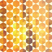 Retro orange pattern of geometric shapes — Vector de stock