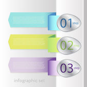 Colorful banner ribbon. Element  for infographic — Stock Vector