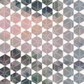 Pattern geometric hexagon. with triangles — Stock vektor