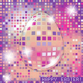 Easter egg crystall pink glass spring concept — Stock Vector