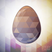 Easter egg in the style of crystal for Easter — Stock Vector