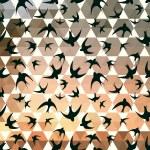 Swallow and hexagons — Stock Vector #44947175