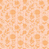 Neutral floral wallpaper — Stok Vektör