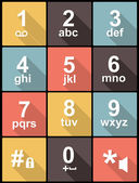 Phone keypad in Flat Design for Web and Mobile — Stock Vector