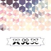 Wąsy z okulary i sześciokątów trójkąty — Wektor stockowy