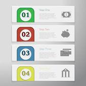 Anzahl Banner Design — Stockvektor