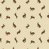 кролик бесшовный фон — Cтоковый вектор