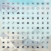 Universal icons for web and mobile — 图库矢量图片