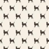 犬とパターン. — ストックベクタ