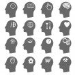 Thinking Heads Icons — Stock Vector #50235385