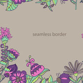 Seamless texture with flowers — Stock Vector