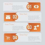 Design aantal banners sjabloon afbeelding of website lay-out — Stockvector