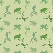 Seamless  pattern of green frog — Stok Vektör
