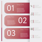 Infographic. Design number banners template graphic or website layout — Stock Vector