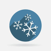 Snowflake sign — Stock Vector