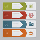 Infographic. Design number banners template graphic or website layout — Stock vektor
