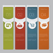 Infographic. Design number banners template graphic or website layout — Stockvektor