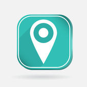 Pin location on map — Stock Vector
