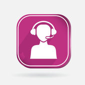 Customer support icon — Stock Vector