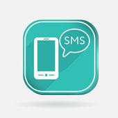 Smartphone com nuvem de diálogo sms. — Vetor de Stock