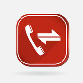 Incoming and outgoing call icon — Stok Vektör