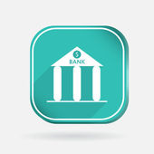 Bank building icon — Stock Vector
