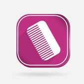 Comb icon — Stock Vector