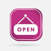 Open label sign icon — Vettoriale Stock