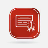 Diploma for first place icon — Stock Vector