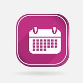 Ikona kalendáře — Stock vektor