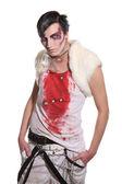 Zombie Mad man Blood — Stock Photo