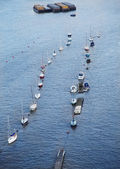 Boats on Thames river. — Stock Photo