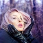 Closeup portrait of attractive blonde. — Stock Photo