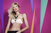 Attractive blonde beauty posing. — Stock Photo